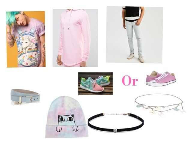 """Pastel"" by morgan2005 on Polyvore featuring Carbon & Hyde, Sik Silk, BOSS Hugo Boss, Chanel, Hot Topic, Converse, American Eagle Outfitters, men's fashion and menswear"