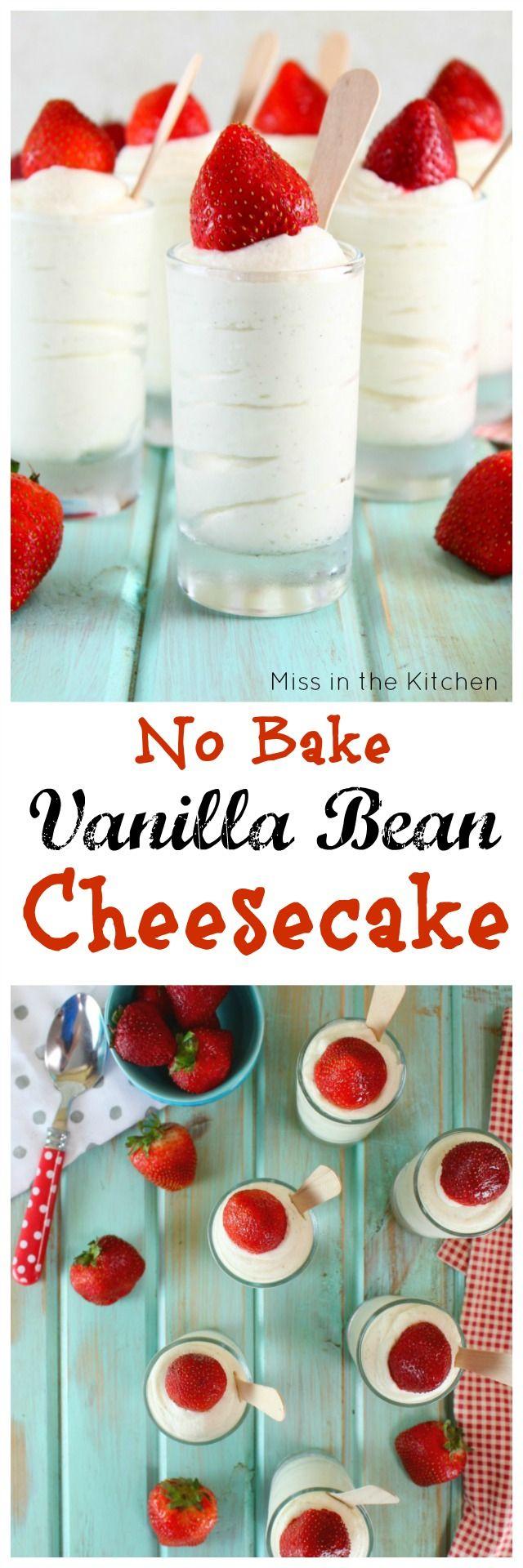 No Bake Vanilla Bean Cheesecake Recipe Easy Dessert For Entertaining Missinthekitchen Com