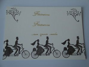 Félicitations aux Mariés - Carte Artisanale Stampin'Up!