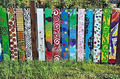 painted fence panels – best garden decoration