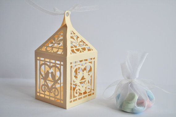 Love Birds Lantern Favor Box or Gift Box: SVG file and Printable PDF