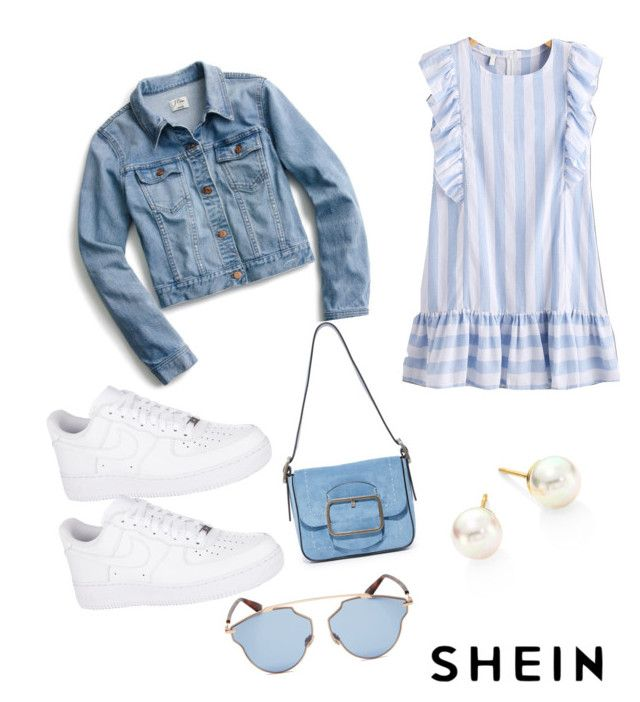 """""""Casual summer"""" by anielle-fashion on Polyvore featuring J.Crew, NIKE, Tory Burch, Christian Dior and Majorica"""