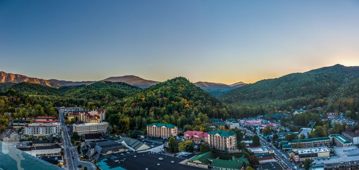 Sunset over the Great Smoky Mountains from the Gatlinburg Space Needle 10/26/2016 About five weeks ago I had the chance to visit the Great Smoky Mountains National Park for its fall foliage. Just in these last couple of days I learned that a fire had started on the Chimney Tops and, since the drought was still going on, it spread fast. The fire spread all the way to Gatlinburg and Pigeon Forge, so today's view would be significantly different...devastating news.
