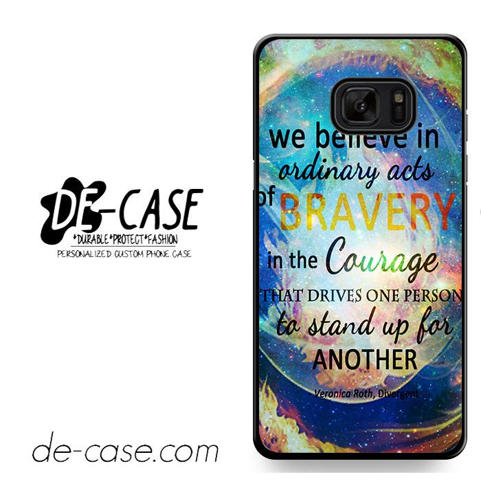 Divergent Dauntless Quote Nebula DEAL-3471 Samsung Phonecase Cover For Samsung Galaxy Note 7