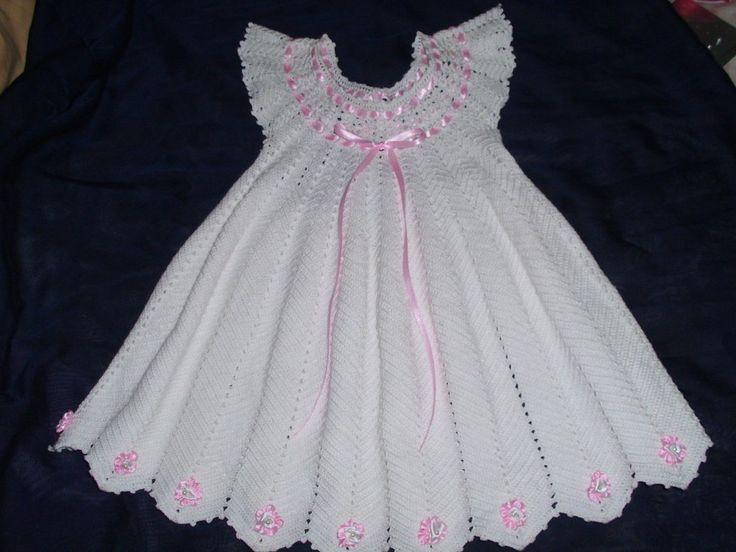 Vestido de ni?a tejido en crochet   Aprender manualidades es .