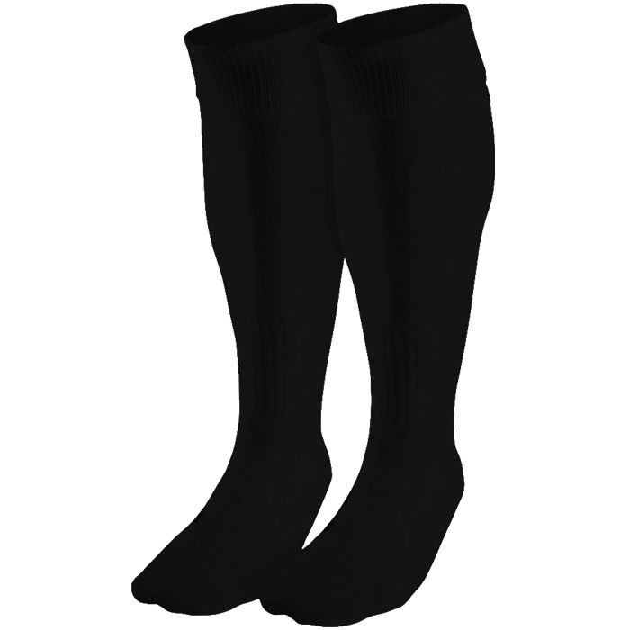 plain black soccer socks