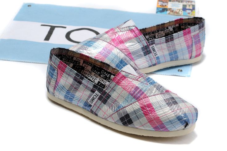 Toms Campus Girl Red Plaid Comfortable