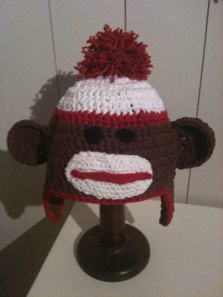 monkey crochet hat