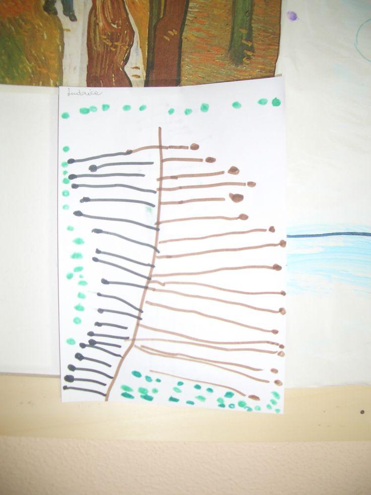 L'albero autunnale, elaborato grafico 4 anni.