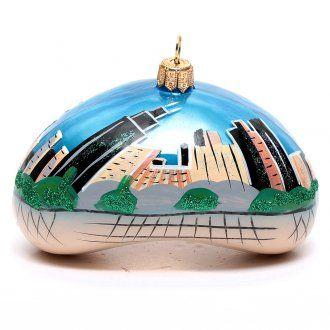 Chicago Bean (Cloud Gate) adorno vidrio soplado Árbol de | venta online en HOLYART
