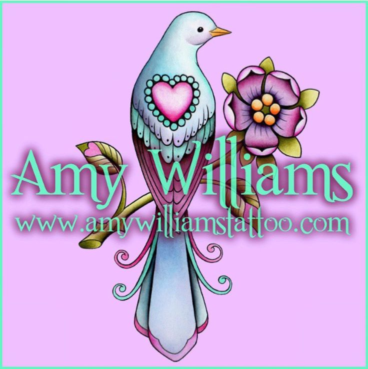 I would like to tattoo this. Message me on my Facebook page Amy Williams Tattoo to book in   @amybirdart    Bird, dove, pigeon, heart, rose, flower, pink, teal, tudor rose, rosa canina, dog rose, leaf hearts, feathers