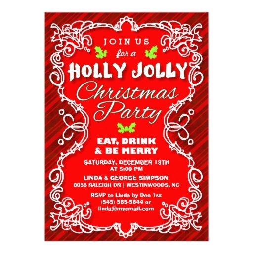 478 best Christmas Holiday Party Invitations images on Pinterest