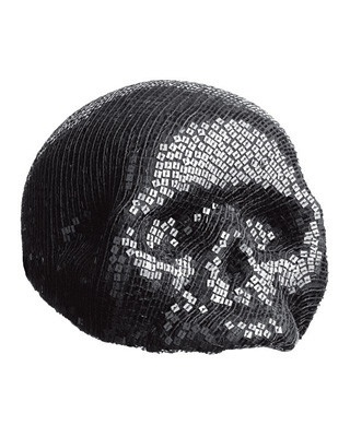 Sequined skull hat by Christophe Coppens: Skulls, Hats, Sequined Skull, Coppens Hat, Fashion Silhouettes