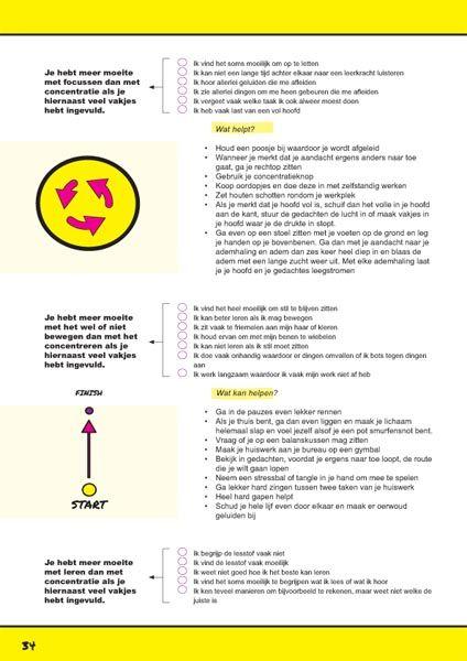 Concentratieproblemen.Een Pagina uit het werkboek ik leer leren. http://ikleerleren.nl/werkboek-bestellen