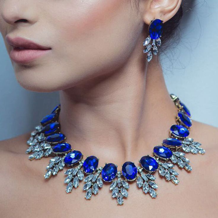 Dvacaman Brand 2016 Fashion Wedding Party Jewelry Sets Women Indian Bridal Gold Plated Statement Necklace&Earrings Love Gift O40