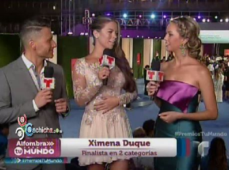 Actriz Ximena Duque Vistiendo De Diseñadora Dominicana En #Premiostumundo #Video