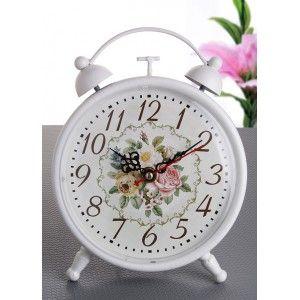 Ferforje Masa Saati 17 x 25 x 7 cm.  ÜRÜN ÖZELLİKLERİ  Ebat: 17 x 25 x 7 cm. Ferforje Lüx Masa Saati Renk: Beyaz