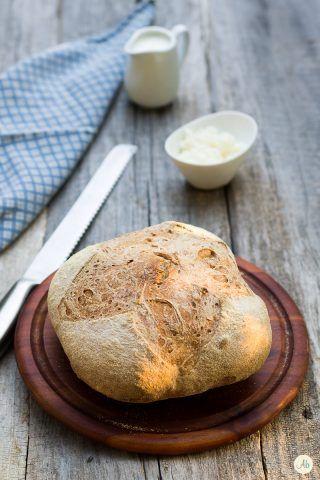Pane rustico lievitato con kefir
