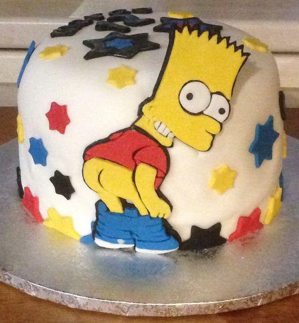 I miei hobby: Bart Simpson cake