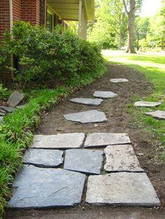 slate walkway diy