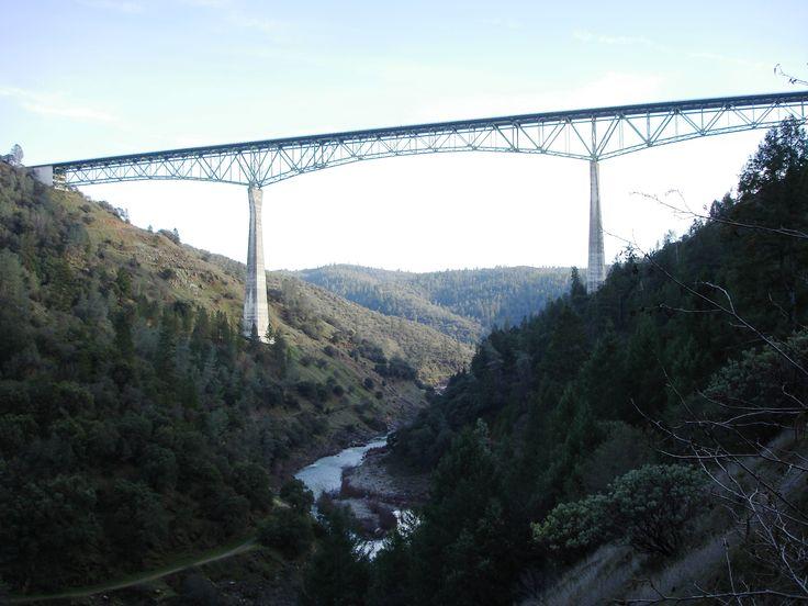Foresthill bridge, Auburn CA. Highest cantilever bridge in US (730')