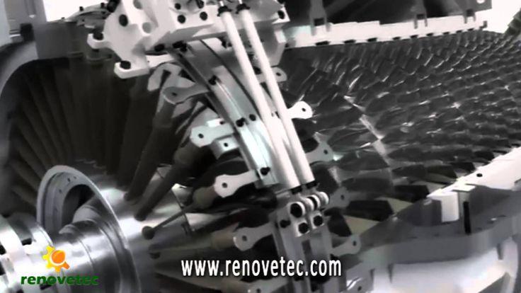 El funcionamiento de una turbina de gas, paso a paso