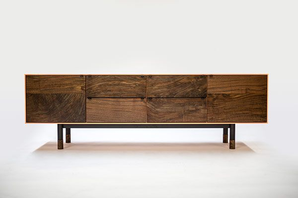 Coastal Credenza by Jeff Martin. I love the combination of steel and wood.