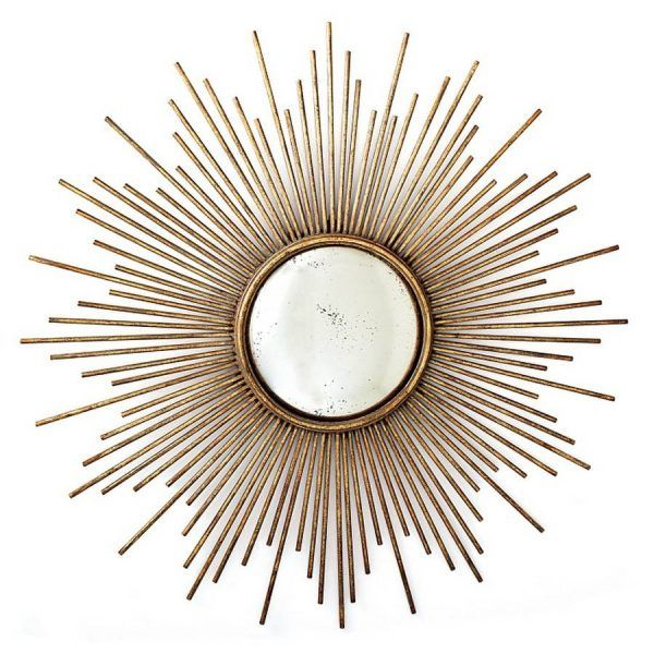 Large Gold Sunburst Mirror
