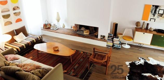 Retro Interior: Vintage Home, Living Rooms, French Interiors, 1950S Style, Interiors Design, Mid Century, Design File, Design Blog, Fire Places