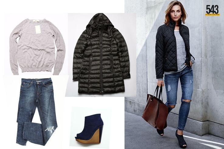 Bluza Zara, Blugi Pull&Bear, Geaca s.Oliver, Botine Bershka