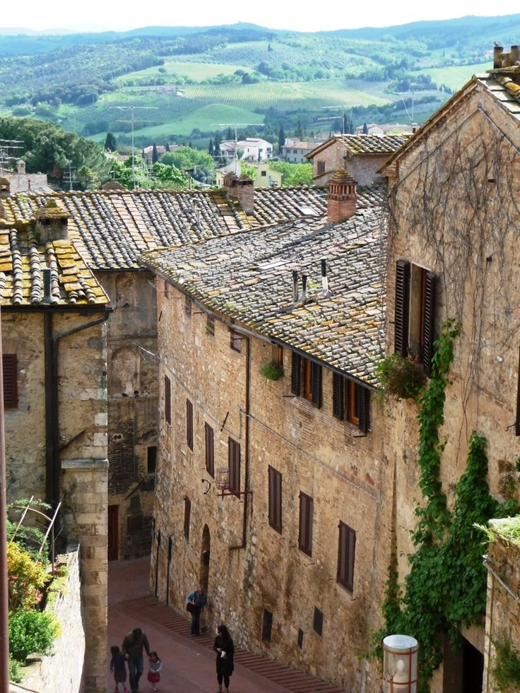 San Gimignano, Italy ....one of the best walled cities to just walk around in.  This was my first one and now I love going through them.  This one has some great restaurants and street markets!!