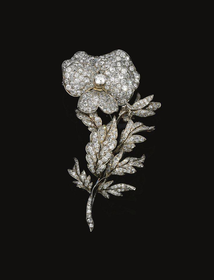 Diamond brooch, <P>late 19th Century</P>   Lot   Sotheby's