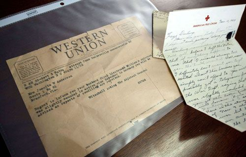 """""""On my word of honor,"""" he added, """"that's all that's wrong."""" (getting word to Faye and heading off any telegram she might receive from the War Department about his being wounded by an artillery shell.)"""