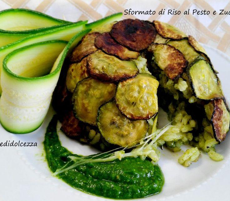 Sformato di Riso al Pesto e Zucchine Trifolate