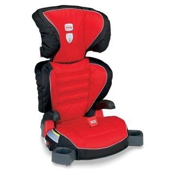 Britax Parkway SGL Car Booster Seat w/LATCH - Cardinal Red!