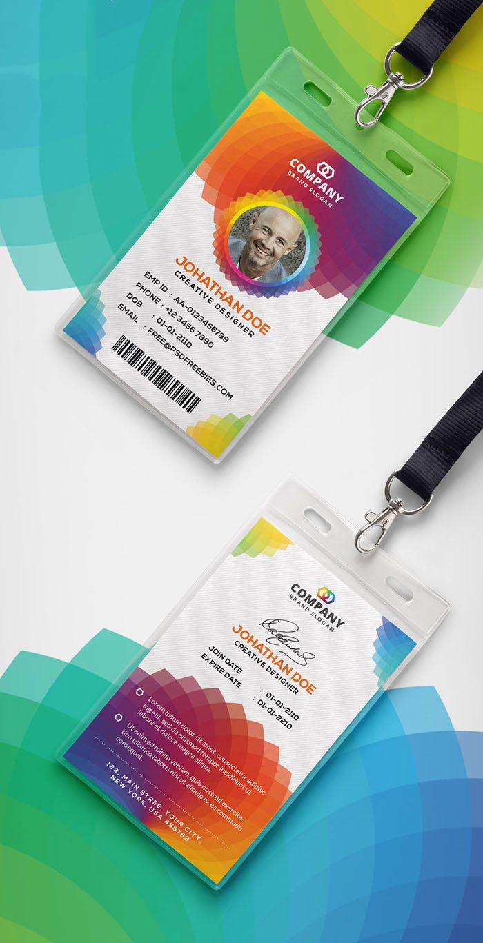 30 Best Id Card And Lanyard Templates 2020 Psd Vector Id