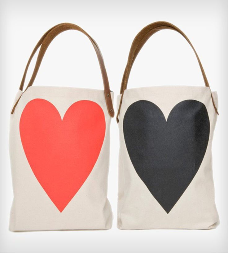 Two Sided Heart Tote Bag.