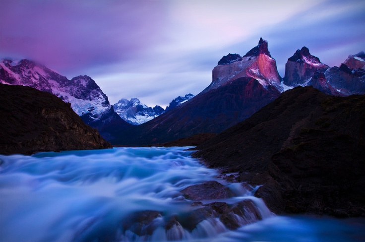 Adventure Travel Photo of the Day - www.letsbewild.com - Daybreak at Los Cuernos, Torres del Paine National Park, Chile - Marion Faria