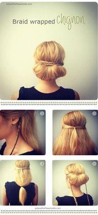 how to hair bun