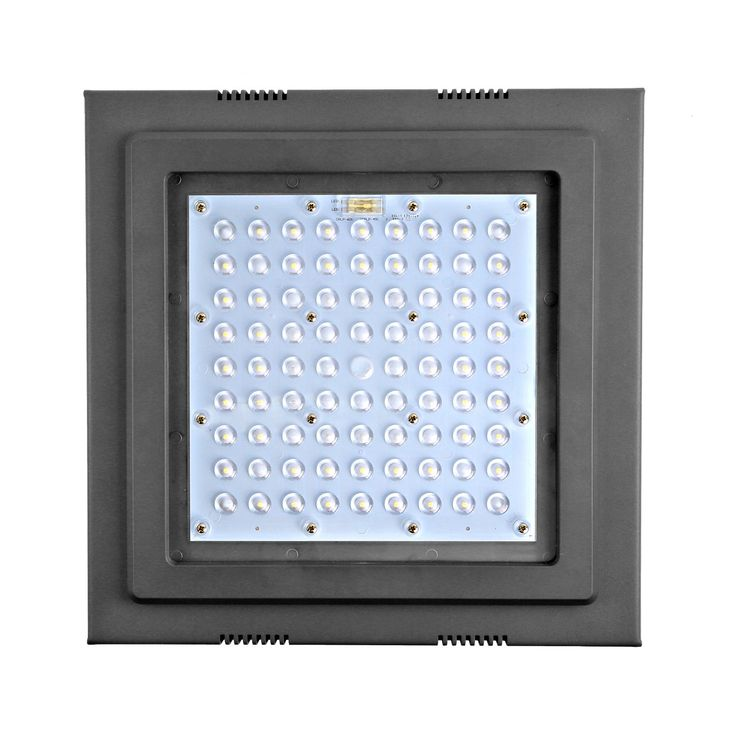 Hykolity 45w Square Led Canopy Light 5625lm 5000k 010v Dimmable 175w250w Mh Hps Hid Replacement 100277vac Lighting Ceiling Fans Canopy Lights Ceiling Lights