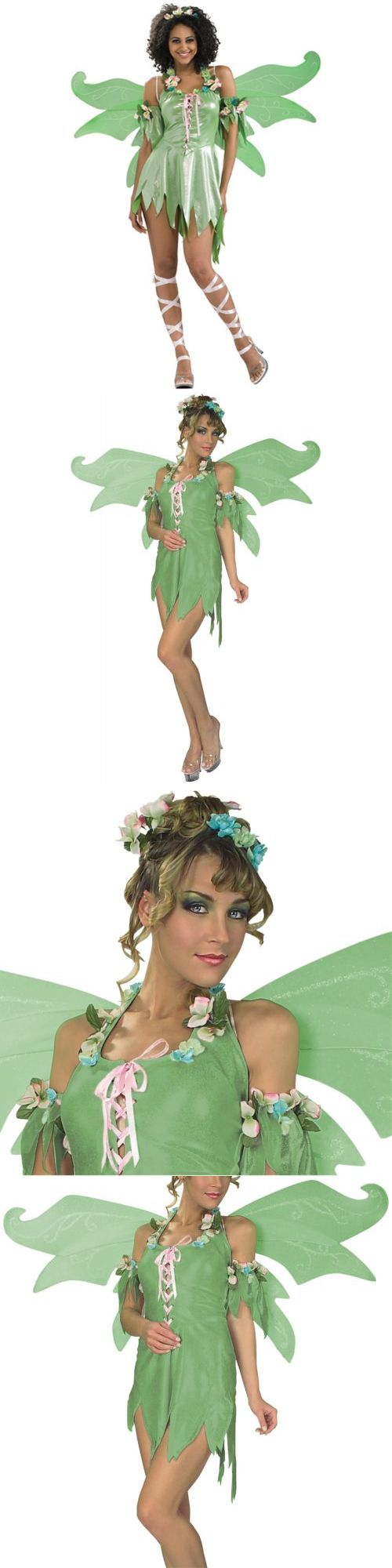 Halloween Costumes: Green Fairy Costume Adult Tinkerbell Halloween Fancy Dress -> BUY IT NOW ONLY: $38.29 on eBay!