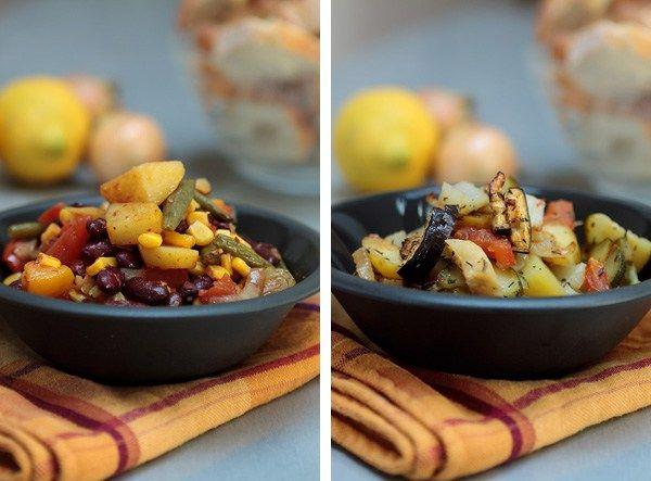 Italienisches und mexikanisches Gemüseblech aus dem Ofen. Unser beliebtes Essen aus der Bürokochgruppe.
