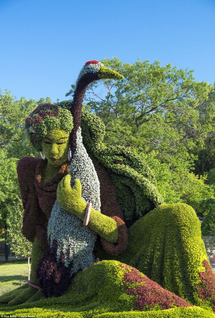One of the hundreds of exhibits at the Mosaïcultures Internationales de Montréal, which is taking place this summer in the Canadian city
