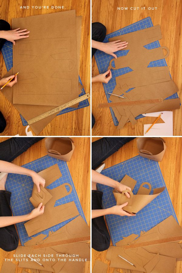 DIY Picnic Baskets- use this pattern to make the leather basket (also pinned)