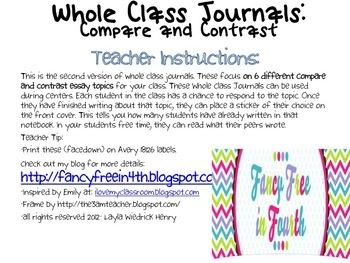 best compare and contrast images teaching ideas  whole class journals 2 compare and contrast