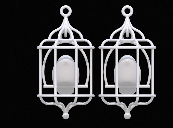 Bird in a Cage 02 by DenisS 3d printed jewellery