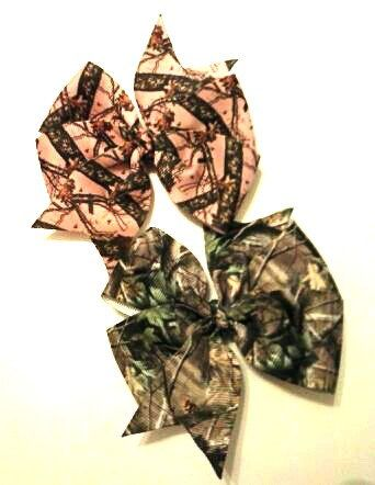 Real Tree Camouflage Hair Bow  Camo Pinwheel by CCSBOWTIQUE2010