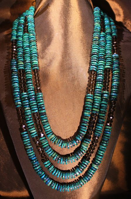 Turquoise multistrand necklace