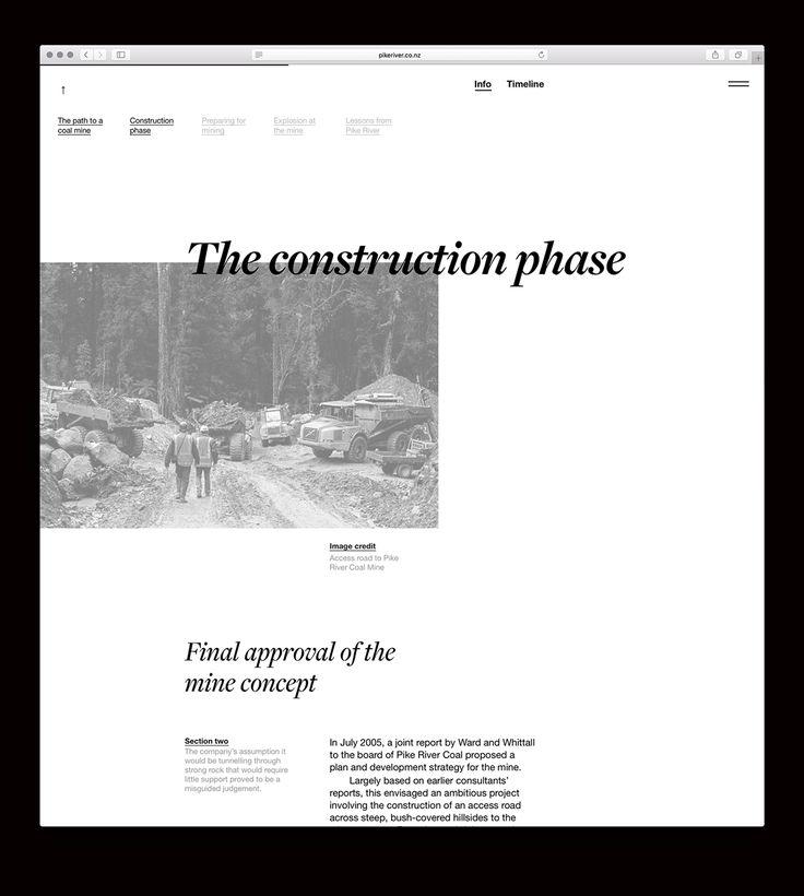 Pike River website on Behance