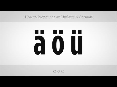 How to Pronounce an Umlaut | German Lessons - YouTube